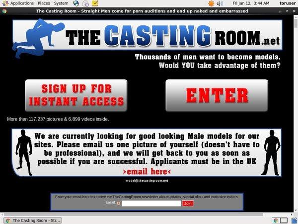 The Casting Room Logon